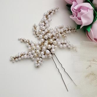 Свадебная шпилька из бусин