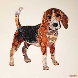 "Объемная 3d картина-коллаж ""Бигль"" собака"