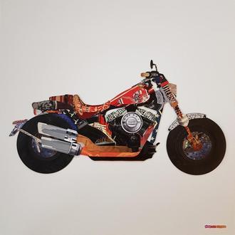 "Объемная 3d картина-коллаж ""Мотоцикл Harley 107"""