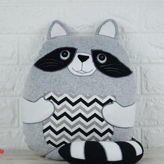 Декоративна подушка Єнот