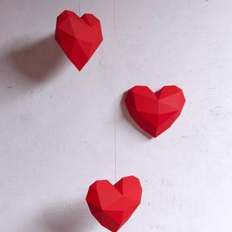 Підвісні полігональні серця