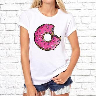 Парные футболки Push IT с принтом Пончик и Симпсон
