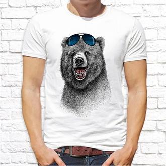 Мужская футболка Push IT с принтом Медведь