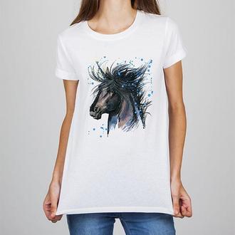 Женская футболка Push IT с принтом Лошадь