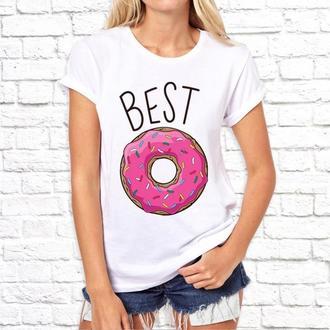 """Парные футболки Push IT с принтом """"Best friends"""""""