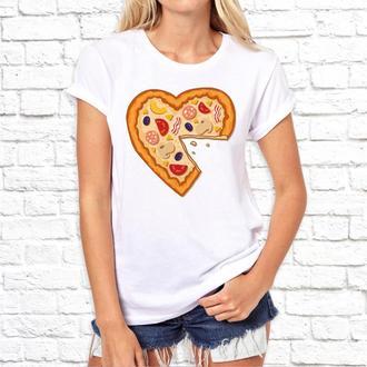 """Парные футболки Push IT с принтом """"Пицца и мышь"""""""