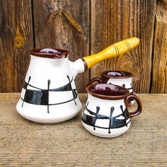 Набір кавовий 350 мл декор Ґаларетка чорно-білий
