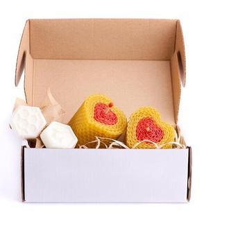 Романтические свечи на день святого валентина в форме сердца для влюбленных. Медовые свечи 100% еко