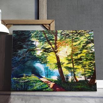 """Картина маслом """" Дремучий лес"""" р 60*80см"""