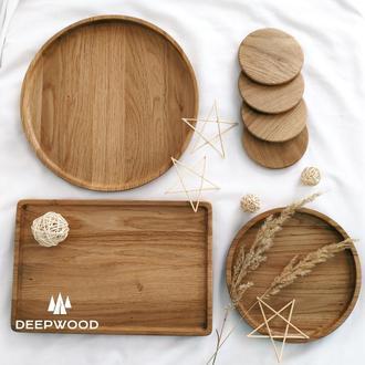 Комплект дерев'яного посуду, деревянная посуда