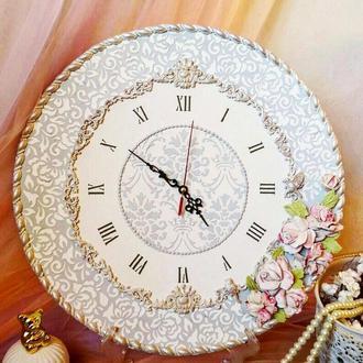 """Шикарные большие часы """"легкость"""" на стену, оригинальный подарок"""