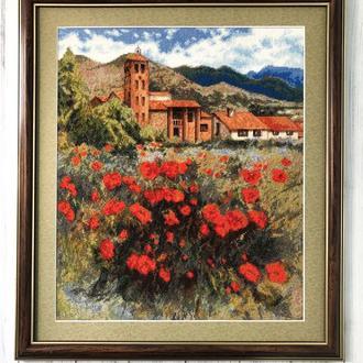 """Вышитая картина """"Испания. Тоскана"""""""
