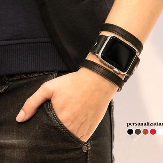 Кожаный ремешок для Apple Watch, код 1081ст