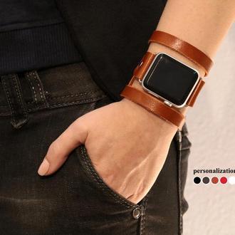 Кожаный ремешок для Apple Watch, код 1081