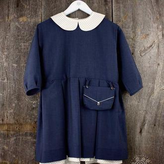 Школьное платье с сумочкой