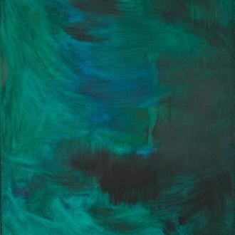 Картина Зеленая и мокрая, 70х100 см, холст, масло, галерейная натяжка, большая интерьерная живопись