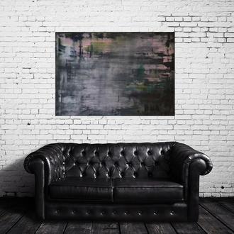 Картина №11, 70х100 см, полотно, олія, галерейна натяжка, велика спокійна інтер'єрний живопис