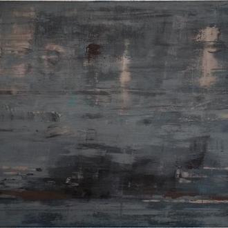 Картина Холодная вода, 50х80 см, холст, масло, галерейная натяжка, горизонтальная живопись