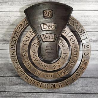 Уникальный подарок руководителю, директору, настенный календарь с нанесением надписей, логотипов