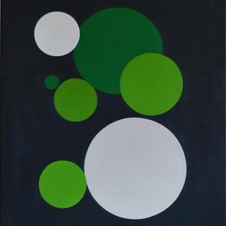 Картина 7 шариков, 60х70 см, холст, масло, галерейная натяжка, модная интерьерная живопись