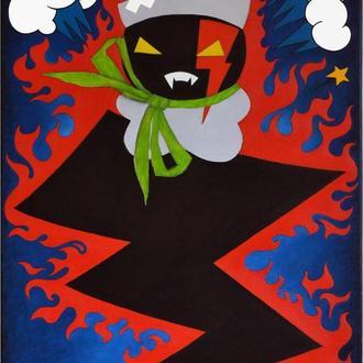 Картина Заїнька в сказі, 60х90 см, полотно, олія, галерейна натяжка, живопис у стилі коміксів