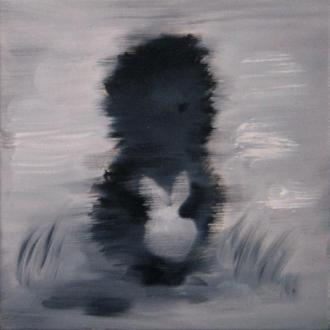 МИНИ картина Ежик в тумане, 20х20 см, холст, масло, современная интерьерная живопись на подарок