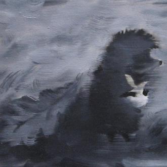 МИНИ картина Ежик в тумане 3, 18х24 см, холст, масло, современная интерьерная живопись на подарок