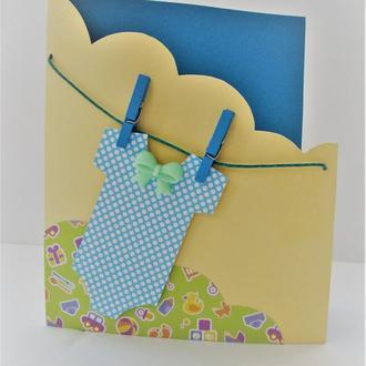 Открытка на день рождения ребенка (мальчика)
