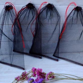 Эко мешочек из сетки черный, эко торбочка, мешок для продуктов, еко мішок із сітки