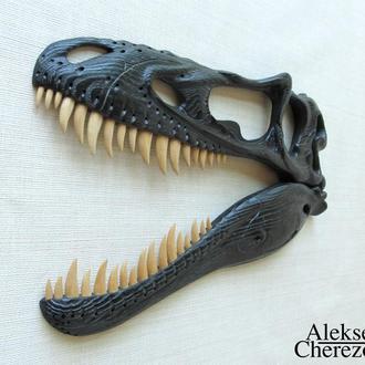 Череп динозавра. Alioramus.
