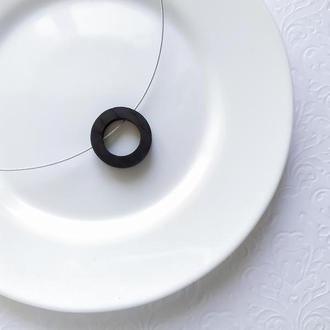 Кулон Коло - дерево - подвеска - минимализм - геометрия