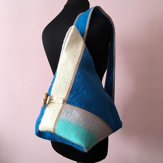 Валяна вовняна сумка / Валяная шерстяная сумка handmade