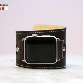 Кожаный ремешок для Apple Watch, код 1105ст