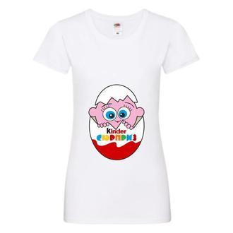 Парні футболки Push IT з принтом Kinder Сюрприз