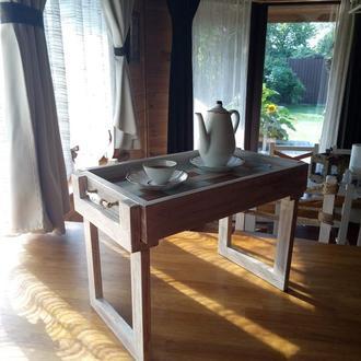 Поднос деревянный столик