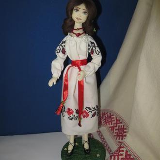 """Интерьерная текстильная кукла """"Украиночка"""""""