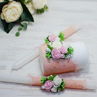 Свадебные свечи, венчальные свечи