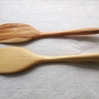 """Деревянная посуда. Кухонная лопатка """"Ф 4""""."""