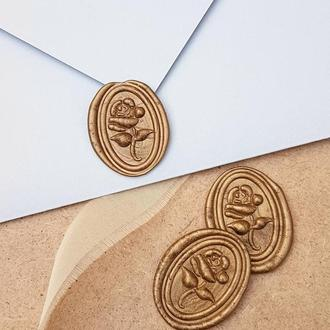 Печать из сургуча для конвертов Роза