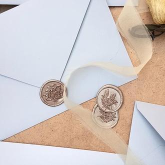 Печать штамп из сургуча для конвертов цвет Шампань