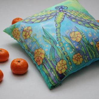 Подушка детская  ручной работы из натурального шёлка