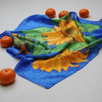 Платок женский ручной работы из натурального шёлка