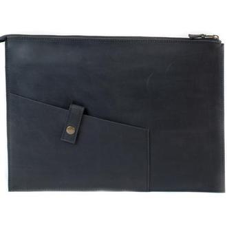 Кожаный чехол для Macbook на молнии. 03006/черный