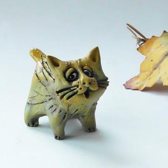 Фигурка кота ручной работы котик