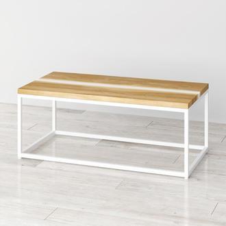 Прикроватный столик Harts из натурального дерева и эпоксидной смолы