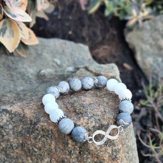 Браслет из натуральных камней, браслет из яшмы, агата, браслет на подарок, оберег