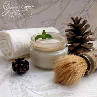 Натуральное мыло для бритья в баночке