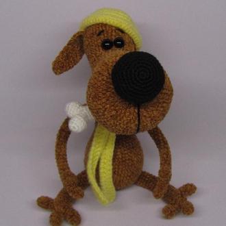 Пес Понтий вязаная игрушка собака