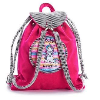 Рюкзак детский, цвет розовый, единорог
