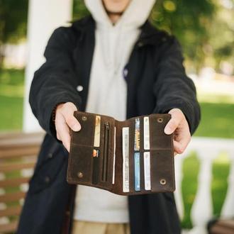 Портмоне кошелек для документов, денег. Именной подарок